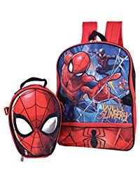 Marvel Spiderman Backpack Combo Set - Marvels Spiderman 2 Piece Backpack School Set (Red/Blue)
