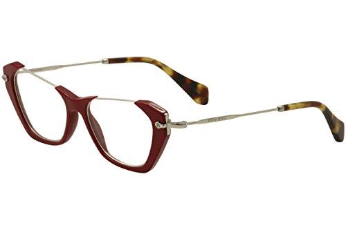 MIU MIU Eyeglasses MU 04OV UA41O1 Red - Miu Glasses Red Miu