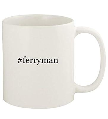 #ferryman - 11oz Hashtag Ceramic White Coffee Mug Cup, White