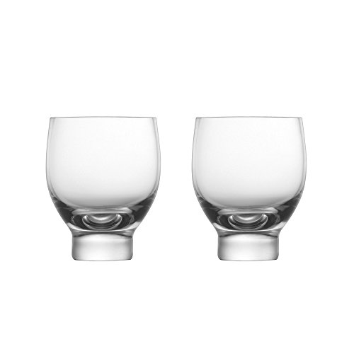 ZENS Sake Cups Set of 2, 1.2OZ Borosilicate Short Glass Cup by ZENS