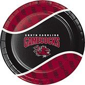 96 NCAA South Carolina Gamecock Round Tailgate Party Paper Dinner Plates 8.75