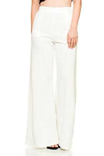 Women's J2 Love Flowing Palazzo Pants, Large, White