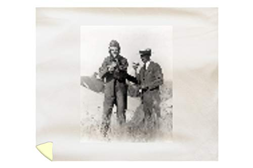 Lantern Press Lindbergh and Wright with Wrecked Plane Photograph 3838 (88x104 King Microfiber Duvet -
