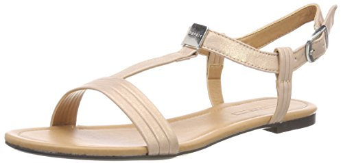 ESPRIT WoMen Pepe T-Strap Ankle Strap Sandals Pink (Pink 670)