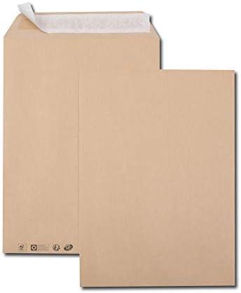 Caja de 250 sobres Kraft marrón B4 250 x 353 90 g/m2 banda de ...