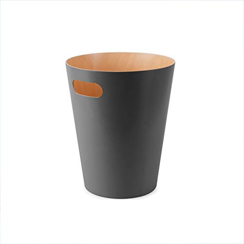 (Light Years Trash Can, Household Storage Bucket Living Room Bedroom Without Cover Wood Grain Round Wastebasket Office 9L (Color : A))