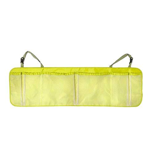 Wakauto Car Back Seat Organizer with 6 Pockets Backseat Organizer, Hanging Mesh Holder Storage Bag with Adjustable Straps (Green)