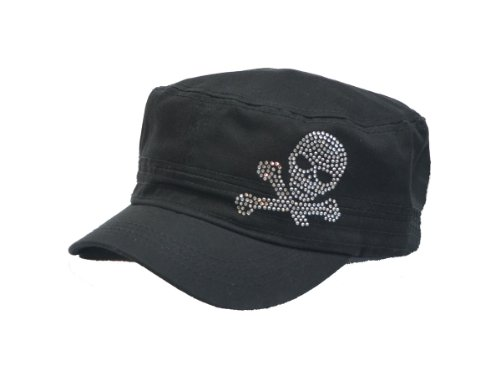 Bone Skull Skeleton Stud Military Cadet Castro Hat Cap