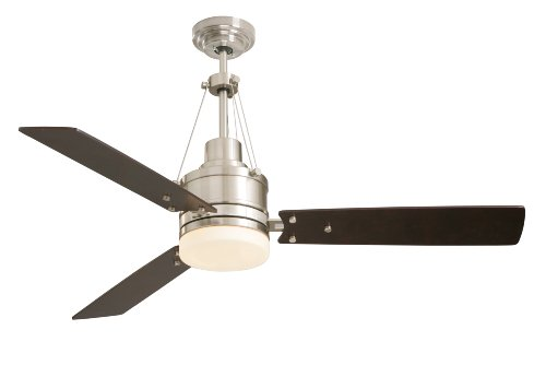 Emerson CF205BS Ceiling Fan with Light and Remote, 54-Inch Blades, Brushed Steel