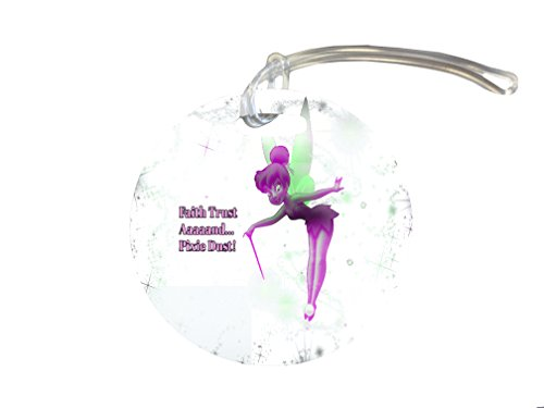 (Faith Trust And Pixie Dust Fairy Silhouette Design Print Image 4-inch Luggage/Bag Tag by Trendy Accessories)