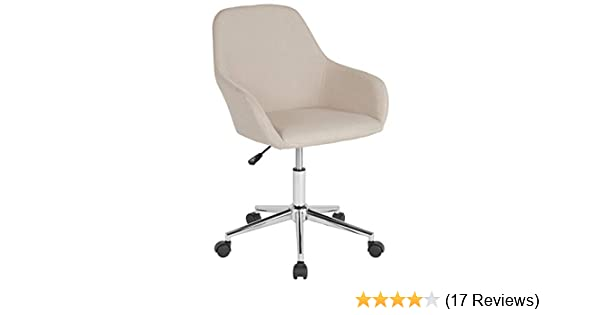 Amazon Com Flash Furniture Cortana Home And Office Mid Back Chair In Beige Fabric Furniture Decor