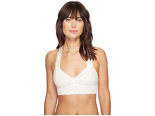 - Free People Women's Galloon Lace Racerback OB590924 Ivory Bra