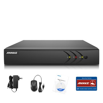 ANNKE Security Camera System 1080P Lite DVR Recorder, H.264+ HDMI Output, Motion-triggered Email Alert and Easy Remote View