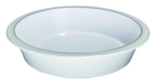 Denby USA Natural Canvas Round Pie Dish, Cream