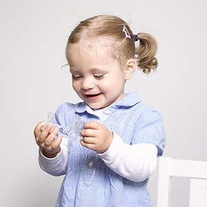 Silikon Nuckel in Gr 3 Beruhigungssauger f/ür Babys und Kleinkinder BPA frei Made in Germany ab 14 Monate zahnfreundlich /& kiefergerecht Dentistar/® Schnuller 3er Set Esel transparent