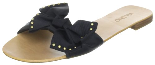 Via Uno Leather 21101603 Damen Sandalen Schwarz (Black/Black)