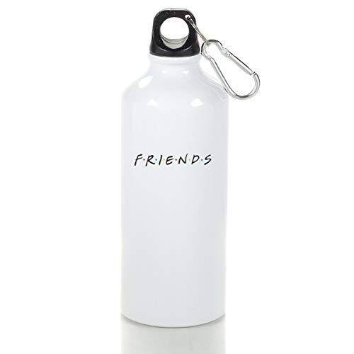 Wenlitee Friends TV Show Aluminum Outdoor Sports Bottle Mountaineering Kettle White L