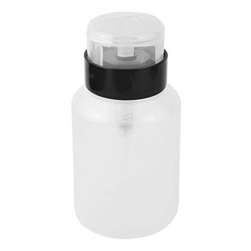 DealMux plástico Alcohol Prego Líquido Art removedor bomba Dispenser Cilindro Black Bottle 250ml