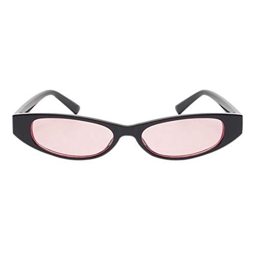 ligero de pequeñas Gafas gato de Gafas Rosa marco sol ojo protección pequeño de Vintage Gafas tamaño de Negro Gafas de UV400 de qHxvBTq