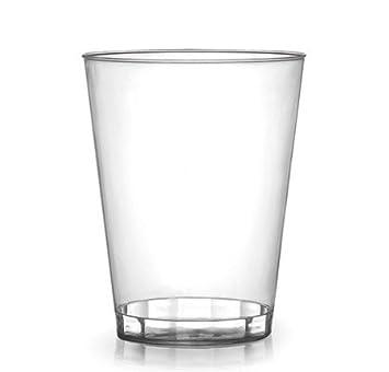 Vasos de plástico duro transparente para fiestas, 340 ml, 20 unidades: Amazon.es: Juguetes y juegos