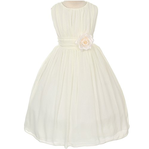 Adorable Ruched Round Chiffon Flower product image