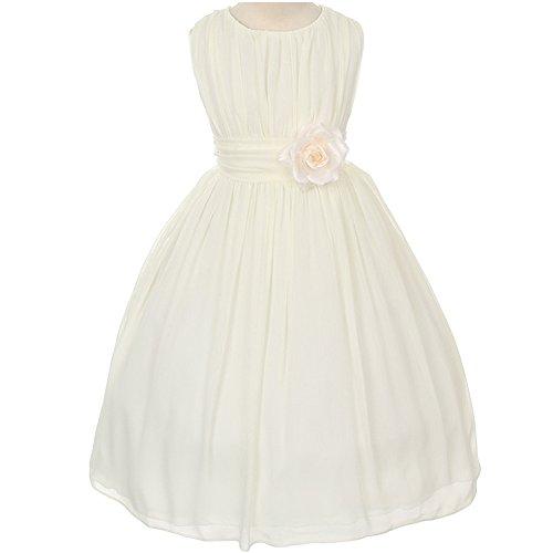 ivory flower girl dresses size 12 - 5