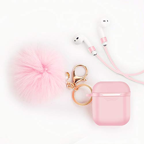 Airpods Case Cover - LEWOTE Airpods Silicone Cute Accessorie