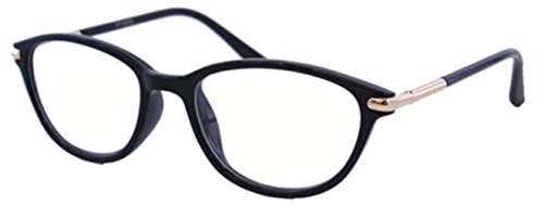 The Marilyn Vintage 1950s Pointed Cat Eye Reading Glasses For Women, Retro Fashion Designer Cat Eye Readers in Black +1.00 (Microfiber Carrying Case - Affordable Designer Glasses