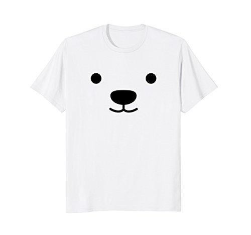 Happy Polar Bear Face Mask Costume TShirt for Women Men Kids