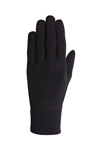 Seirus Innovation Men's Arctic Silk Glove Liner, Black, Small/Medium