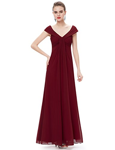 Ever-Pretty Elegant Empire Waist Sleeveless Long Chiffon Mother Of The Bride Dress 14 US