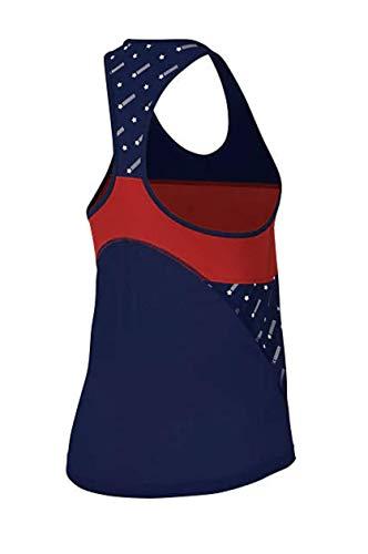 Nike Womens Miler Running Tank Stars Blue/University Red White/White S 2