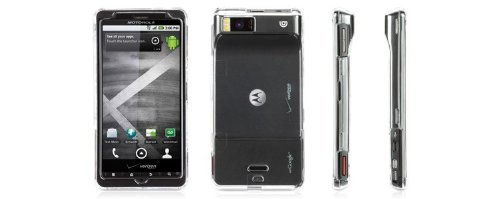 - iClear Crystal-clear hard-shell case for Motorola Droid X by Griffin