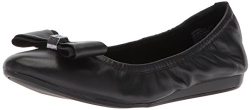 Bandolino Women's Ferrista Ballet Flat, Black Leather, 8.5 M US
