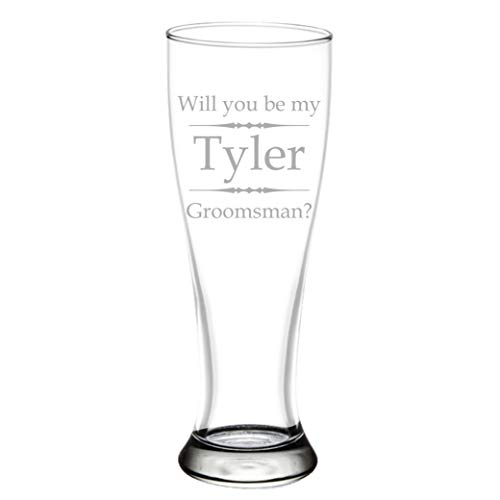 Personalized Pilsner Beer Glass with Custom Engraving 16 oz or 23 oz, -