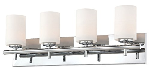 Price comparison product image Barro 4 Light Vanity in Chrome and White Opal Glass