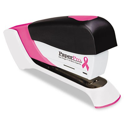 Accentra, Inc. Compact Stapler, Pink Ribbon, 15/ST Cap, Pink/Black Accentra Compact Stapler