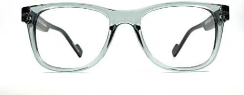 Retro Eyeworks Superflex Wayfarer Reading Glasses 51-19 MM 1.5x Transparent Grey