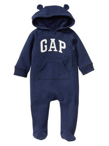 GAP Baby Boys Bear Arch Logo Footed Zip One Piece Coveralls Navy Blue 3-6M 6-9M (6-9 Months Infant Baby) (Arch Logo Zip)