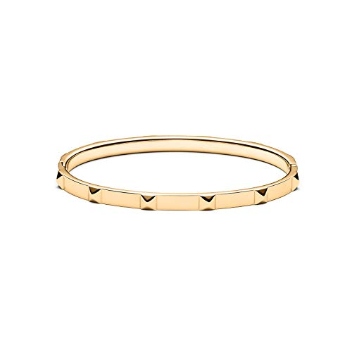 - MVMT Women's Stud Thin Bangle Bracelet | Clasp Closure, Stainless Steel | Gold