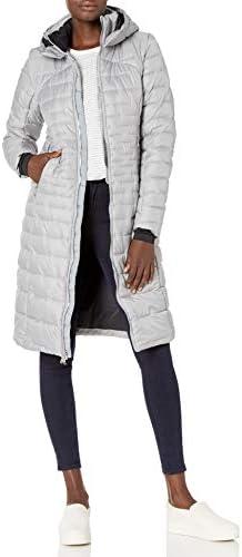 Spyder Women's Edyn Long Synthetic Down Jacket, AlloyBlack