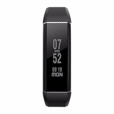 LEMFO C6 Bluetooth Smart Pedometer Bracelet IP67 Waterproof Activity Tracker Heart Rate Monitor Fitness Wristband OLED Touch Screen Exercise Tracker for Android iOS Smart Phones