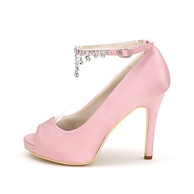 Meilleur Toe Null Shoes For 4u 4u Ivory Shoes Buckle Femmes Fête Satin Mariage De Evening Wedding Stiletto Soir L'ivoire Satin Pour Wedding Nulle Pump Boucle Spring De Strass Toe Null Peep Women's Talon Summer Basic Aiguille Nul Rhinestone Heel Party Printemps Été Base Mariage Chaussures Best Peep Chaussures De Pompe La De a5x7PP