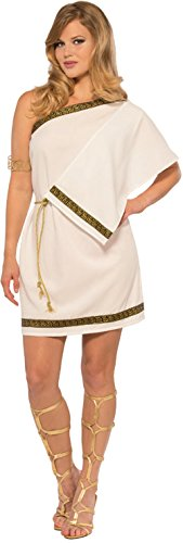 Pizazz! Women's Greek Gown, White/Gold Standard -