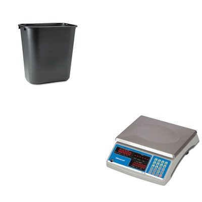 KITRCP295600BKSBWB140 - Value Kit - Salter Brecknell Electronic 60 lb. Coin amp; Parts Counting Scale (SBWB140) and Rubbermaid-Black Soft Molded Plastic Wastebasket, 28 1/8 Quart (RCP295600BK) by Salter Brecknell