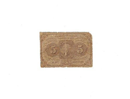 1862 5 CENT CIVIL WAR POSTAL CURRENCY---Affordable VERN'S CARD & COIN $5 About Good