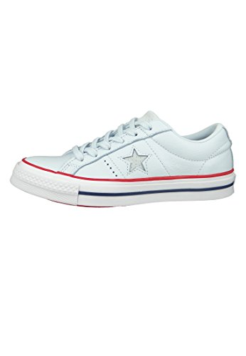 Leather Gym Star One White Ox Converse Mens Red Blue Tint Trainers w7q15I58