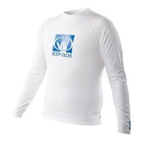 - Body Glove Men's Basic Long Arm Rashguard, White, Large