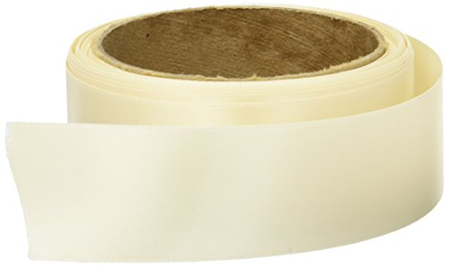 Offray Double Face Satin Craft Ribbon, 1-1/2-Inch Wide by 50-Yard Spool, Ivory