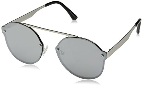 Quay Women's Camden Heights Sunglasses, Silver/Silver, One - Sunglasses Of World Watches